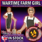 FANCY DRESS COSTUME # LADIES 1940s WW2 PIN UP WARTIME LAND GIRL SMALL 8-10